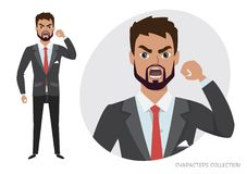The evil man threatens with his hand. Angry men. Negative Emotions. Bad Days. Bad Mood Stressful men. Angry men. Negative Emotions. Bad Days. Bad Mood Stressful Royalty Free Stock Photo