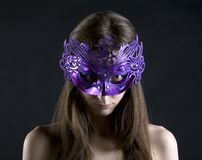 Evil in mask Royalty Free Stock Photography