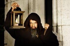 Evil monk Stock Image
