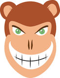 Evil Monkey Head Vector Royalty Free Stock Photo