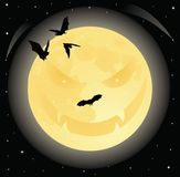 Evil moon. royalty free stock photography
