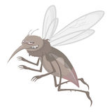 Evil mosquitoes Royalty Free Stock Image
