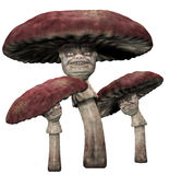 Evil mushroom creatures stock illustration