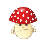 Evil Mushroom Vector Illustration. Evil Mushroom - fungus Vector Illustration Royalty Free Stock Photography