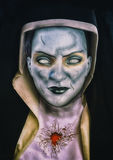 Evil Nun. Portrait of a fantasy horror evil nun vector illustration