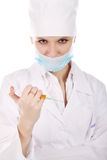 Evil nurse Royalty Free Stock Image