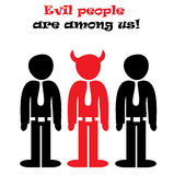 Evil people Stock Images