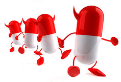Evil pills Royalty Free Stock Photo