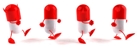 Evil pills Royalty Free Stock Images