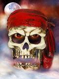 Evil pirate skull stock photos