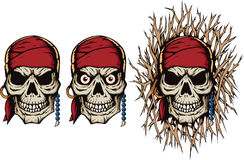 Evil Pirate Skull Royalty Free Stock Image