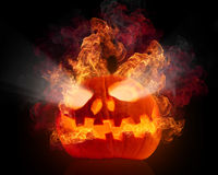 Evil pumpkin Stock Photography