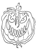 Evil Pumpkin. Art illustration. Suitable for Halloween royalty free illustration