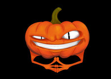 Evil pumpkin Royalty Free Stock Images