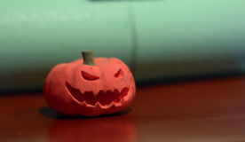 Evil pumpkin Stock Images