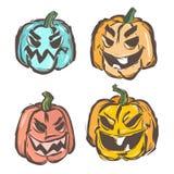 Evil pumpkin Stock Photo