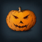 Evil pumpkin. Illustration of a pumpkin with a furious face Royalty Free Stock Images