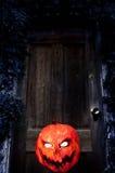 Evil Pumpkin - Jack O Lantern Stock Photo