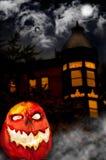 Evil Pumpkin - Jack O Lantern Stock Images