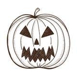 Evil pumpkin lantern. Stock Image