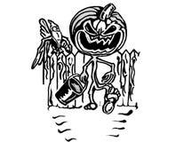 Evil pumpkin Royalty Free Stock Images