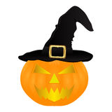 Evil pumpkin witch hat for Halloween Royalty Free Stock Photography