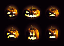 Evil pumpkins Royalty Free Stock Images