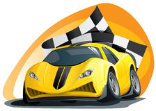 Evil racing car on the track. Illustration of the evil racing car on the track Royalty Free Stock Photos