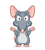Evil rat. Vector clipart picture of an evil rat Royalty Free Stock Photo