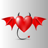 Evil red heart Stock Photography