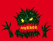 Evil red horror monster. Vector illustration. Stock Image