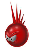 Evil red punk smiley Stock Photography