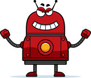 Evil Red Robot Royalty Free Stock Photos