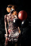 Evil redhead clown Stock Photos