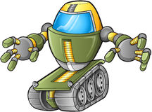 Evil Robot Tank Vector Royalty Free Stock Photography