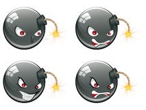 Evil Round Bomb Stock Images