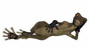 Evil Salamander - Relaxing Royalty Free Stock Photo