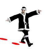 Evil Santa Claus. Clown skipping through the snow Royalty Free Stock Image