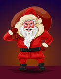 Evil santa claus, vector illustration. Stock Photography