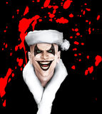 Evil Santa Clown With Blood Stock Photos
