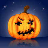 Evil scary Halloween pumpkin Royalty Free Stock Images