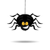 Evil and scary spider Stock Image