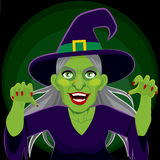 Evil Scary Witch Dark Background Royalty Free Stock Photos