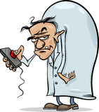 Evil scientist cartoon illustration Royalty Free Stock Photography