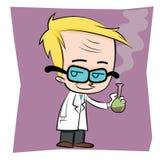 Evil scientist Stock Photography