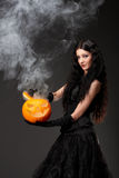 Evil but sexy witch Royalty Free Stock Photos