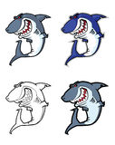 Evil shark mascot Royalty Free Stock Photo