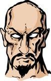 Evil sinister man hand-drawn Royalty Free Stock Photos