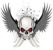 Evil skull. Emblem on white background royalty free illustration