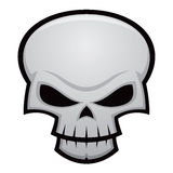 Evil Skull. Cartoon illustration of an evil, stylized skull. Great for Halloween, pirate flags, warnings, etc vector illustration